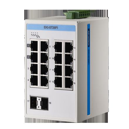 EKI-5000 Серия неуправляемых коммутаторов. Modbus TCP/IP & SNMP